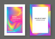 Fluid shapes. Wavy liquid background. Bright abstract backdrop concept. Trendy gradient waves design set template vector Poster Layout Magazine Flyer Banner Brochure Cover
