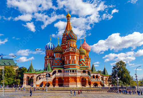 St Basil's Cathedral and Moscow Kremlin Canvas Print