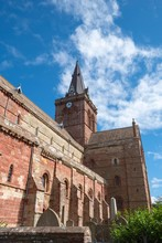 Romanesque-Norman Cathedral St. Magnus, 12th Century, Kirkwall, Mainland, Orkney Islands, Scotland, Great Britain