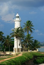 Lighthouse In The Old Dutch Fort, Galle, Sri Lanka, Asia