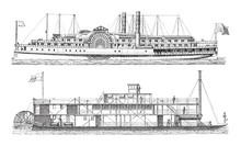Old Steamships / Vintage Illus...