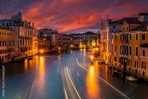 Wall Murals Bridges Grand Canal and Basilica Santa Maria della Salute, Venice, Italy.