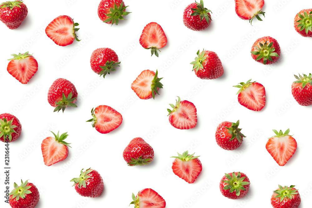 Fototapety, obrazy: Pattern of fresh strawberries
