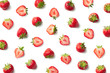 canvas print picture Pattern of fresh strawberries