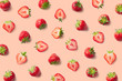 canvas print picture Colorful pattern of strawberries