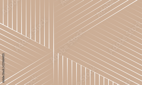 Obraz Vector Illustration of the pattern of white lines on brown background. EPS10. - fototapety do salonu