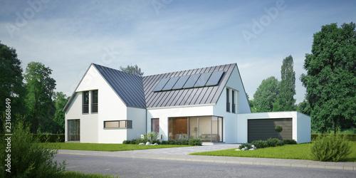 Obraz Winkelhaus Zinkdach - fototapety do salonu