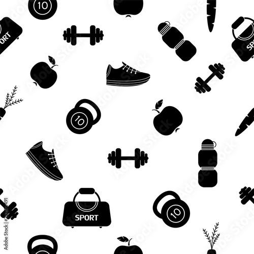 wzor-sprzetu-sportowego-motyw-fitness