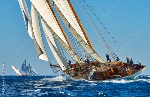 Sailing yacht race Fototapete