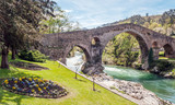 Roman bridge of Cangas de Onis in Asturias