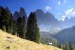 hohe Felsgipfel in den Dolomiten