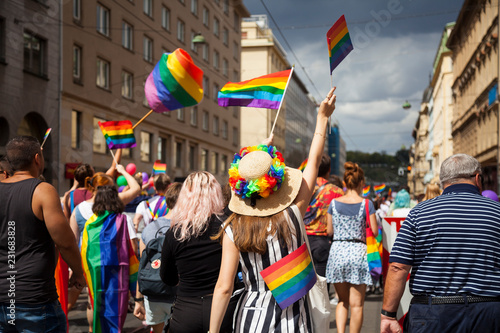 Cuadros en Lienzo Prague/Czech Republic -August 11. 2018 : LGBT Pride March