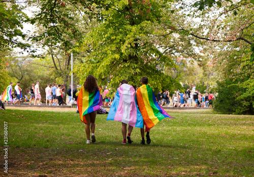 Valokuva  Prague/Czech Republic -August 11. 2018 : LGBT Pride March