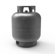 Gas Canister Isolated On White Background. 3D Render