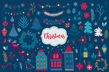 Christmas Design Elements With...