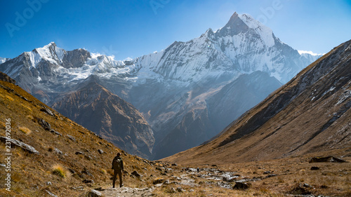 Himalayas mountain landscape in the Annapurna region Wallpaper Mural