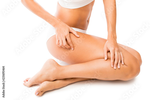 Obraz Woman Feeling Her Radiant Skin - fototapety do salonu