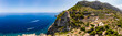 Leinwandbild Motiv Aerial view, Spain, Balearic Islands, Mallorca, Andratx region, west coast, Tramuntana mountains, Torre del Verger