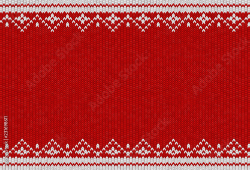 Knitted textile pattern. Vector illustration