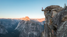Hiker In Yosemite National Par...