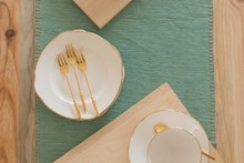 Cutlery On A Place Mat