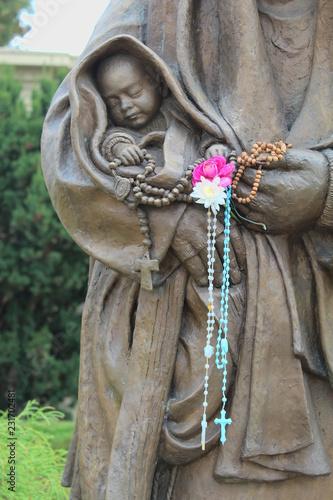 Fotografie, Obraz  Crocifisso sulla statua