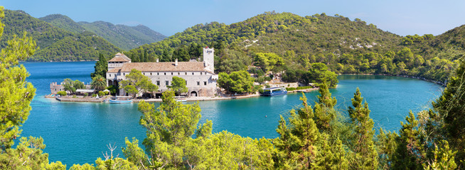Croatia - The St.Mary benedictine monastery on the Mljet island.