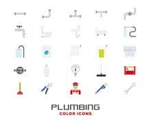 Plumbing And Sanitary Color Ic...