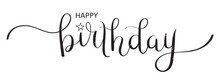 HAPPY BIRTHDAY Brush Calligrap...