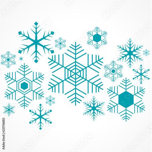 Fotografía  set flocon de neige