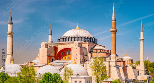 Hagia Sophia in summer, Istanbul, Turkey Wallpaper Mural