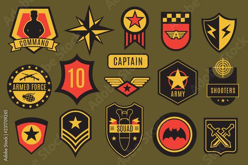 Army badges Canvas Print