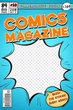 Comic Book Cover. Retro Cartoo...