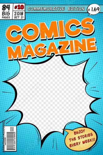 Fotomural  Comic book cover