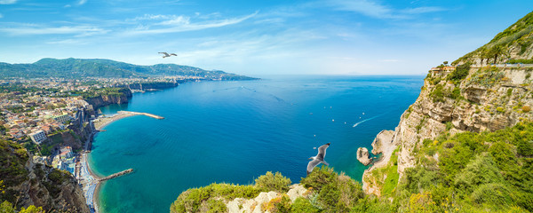 Sorrento and Gulf of Naples - popular tourist destination in Italy