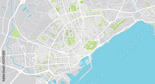 Photo Urban vector city map of Alicante, Spain