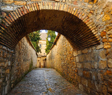 Medieval Street In Baeza. Renaissance City In The Province Of Jaén. World Heritage Site By Unesco. Andalusia, Spain