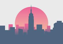 Beautiful New York Sunrise Minimal Sunrise