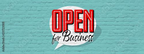 Fototapeta Open for business obraz