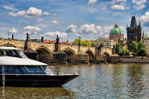 Tuinposter Centraal Europa Prag, Karlsbrücke