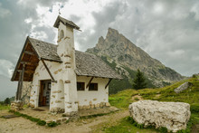 Small Chapel In Falzarego Pass...