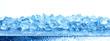 Leinwandbild Motiv Heap of crushed ice isolated on white background