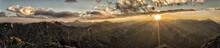 Fiery Sunrise In The Colorado Rocky Mountains.  Taken From Whitecross Mountain In The San Juan Range Near Lake City