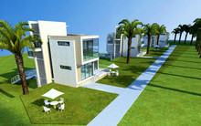 3d Render Of  House Exterior