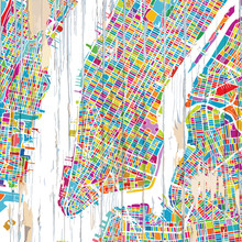 Colourful New York City Map