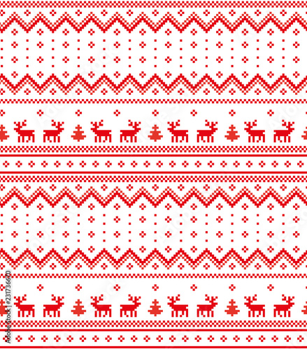 New Year's Christmas pattern pixel vector illustration Canvas Print