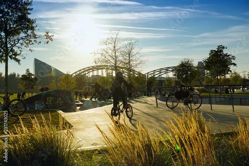 Fotografie, Obraz  Skatepark in Frankfurt