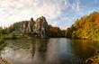 Externsteine im Herbst, Detmold, Deutschland