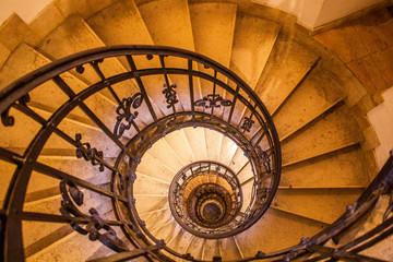 Fototapeta Schody Old vintage spiral staircase