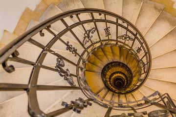 Panel Szklany Podświetlane Schody Old vintage spiral staircase